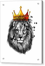 Lion King  Acrylic Print by Mark Ashkenazi