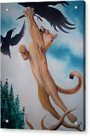 Lion King Acrylic Print by Patrick Trotter