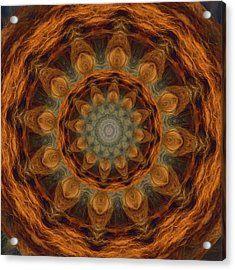 Acrylic Print featuring the painting Lion Mandala by Shelley Bain