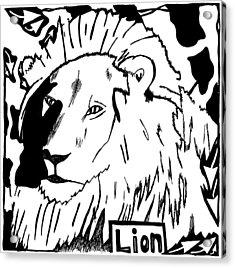 Lion Maze Acrylic Print by Yonatan Frimer Maze Artist