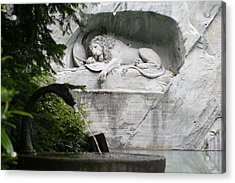 Lion Monument Lucerne Switzerland Acrylic Print