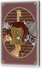 Lion Mutation Acrylic Print