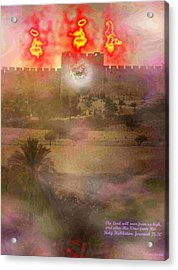 Acrylic Print featuring the photograph Lion Of Judah At The Gate He Is Coming by Anastasia Savage Ealy