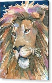 Lion Of Judah Acrylic Print by Marsha Elliott