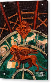 Acrylic Print featuring the painting Lion Of St. Mark by Genevieve Esson