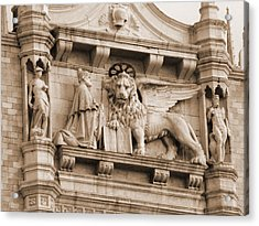 Lion Of Venice With The Doge Acrylic Print by Donna Corless