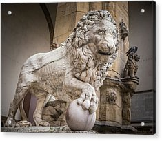 Lion On The Porch Acrylic Print