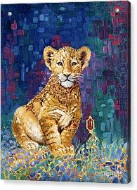 Lion Prince Acrylic Print by Silvia  Duran