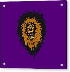 Lion Roar Purple Acrylic Print