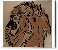 Lion Side Acrylic Print