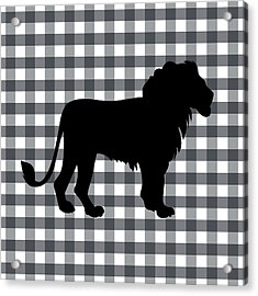 Lion Silhouette Acrylic Print by Linda Woods