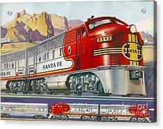 Lionel Train Catalog  Acrylic Print by Garland Johnson