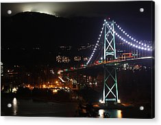 Lions Gate Bridge And Grouse Mountain Acrylic Print