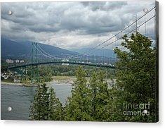 Lion's Gate Bridge, Vancouver Acrylic Print by Patricia Hofmeester
