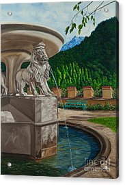 Lions Of Bavaria Acrylic Print by Charlotte Blanchard