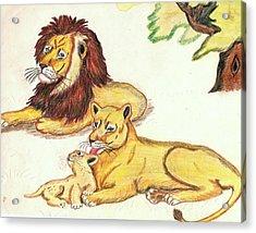 Lions Of The Tree Acrylic Print