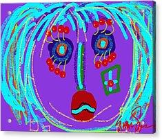 Lippy Girl Acrylic Print