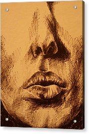 Lips Are Beautiful Acrylic Print by J Oriel