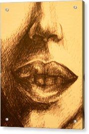 Lips Acrylic Print by J Oriel