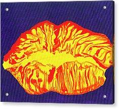 Lips Acrylic Print by Rishanna Finney