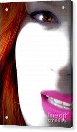 Lips Acrylic Print by Steven Digman