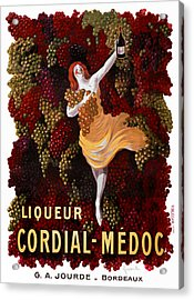 Liqueur Cordial-medoc - Paris 1908 Acrylic Print by Daniel Hagerman