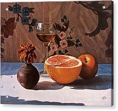 Liqueur Glass And Grapefruit Acrylic Print by Daniel Montoya