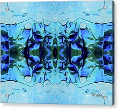 Acrylic Print featuring the digital art Liquid Abstract #0059-1 by Barbara Tristan