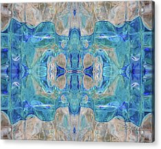 Acrylic Print featuring the digital art Liquid Abstract  #0060-1 by Barbara Tristan