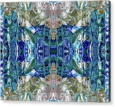 Acrylic Print featuring the digital art Liquid Abstract #0061_1 by Barbara Tristan