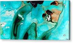 Liquid Art - Aqua Dance - Sharon Cummings Acrylic Print by Sharon Cummings