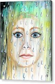 Liquid Catharsis Acrylic Print by Linda Nielsen
