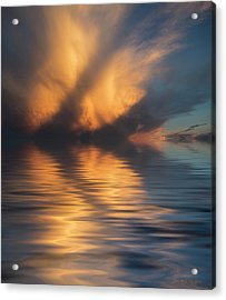 Liquid Cloud Acrylic Print by Jerry McElroy