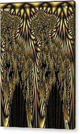 Liquid Gold Acrylic Print by Digital Art Cafe