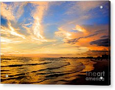Liquid Gold Acrylic Print by Margie Amberge