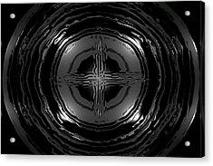 Liquid Metal Acrylic Print by Chad Rew