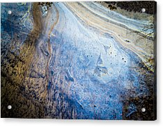 Liquid Oil On Water With Marble Wash Effects Acrylic Print