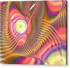 Acrylic Print featuring the digital art Liquid Rainbow by Anastasiya Malakhova