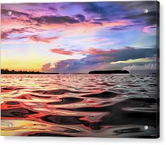 Liquid Red Acrylic Print