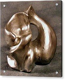 Liquid Silver Acrylic Print by Lonnie Tapia