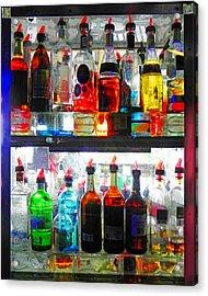 Liquor Cabinet Acrylic Print by Francesa Miller