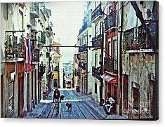 Lisboa Tram Route Acrylic Print by Sarah Loft