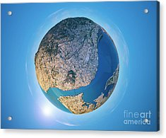 Lisbon 3d Little Planet 360-degree Sphere Panorama Acrylic Print