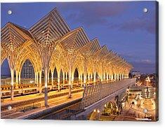 Acrylic Print featuring the photograph Lisbon Gare Do Oriente by Marek Stepan