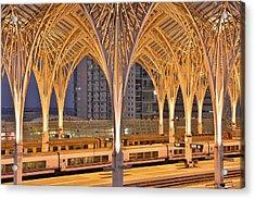 Acrylic Print featuring the photograph Lisbon Oriente Station by Marek Stepan