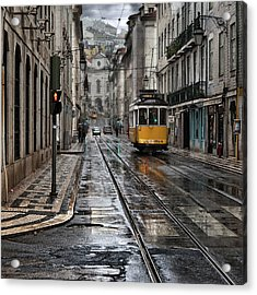Acrylic Print featuring the photograph Lisbon Streets by Jorge Maia