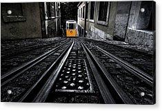 Lisbon Tram Acrylic Print by Jorge Maia