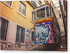Lisbon's Lively Transport Acrylic Print by Carol Japp
