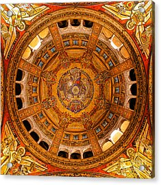 Lisieux St Therese Basilica Dome Ceiling Acrylic Print by Olivier Le Queinec