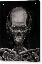 Listen 17 - Self Portrait 41,  Dec 2016 Acrylic Print by Brent Schreiber